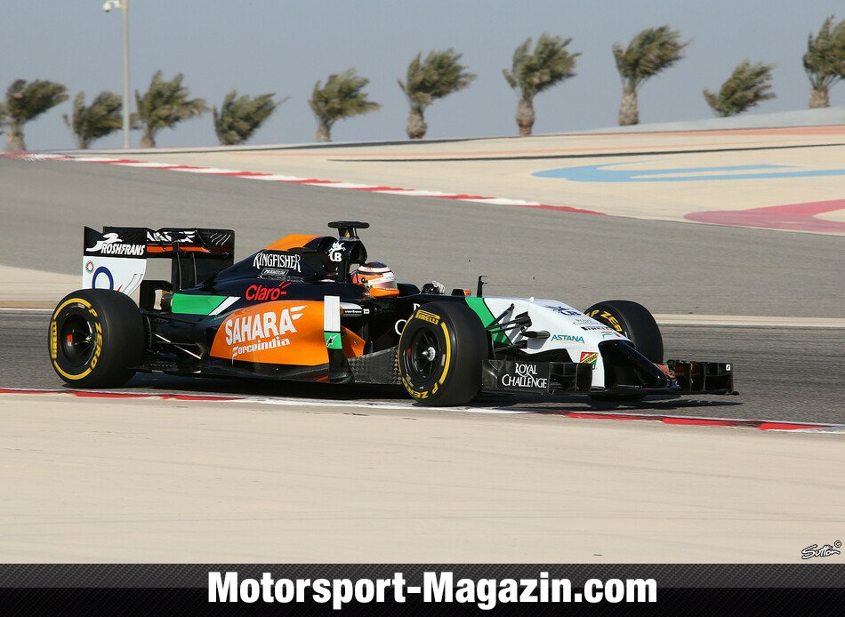 Formel 1 2014, Testfahrten, Nico Hülkenberg, Force India, Bild: Sutton
