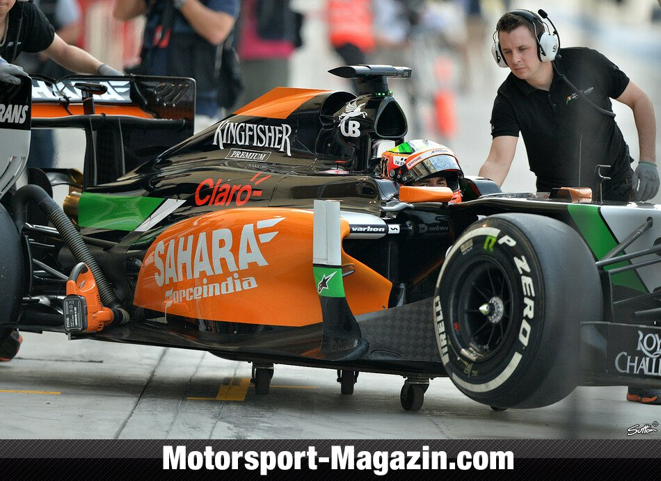 Formel 1 2014, Testfahrten, Sergio P�rez, Force India, Bild: Sutton