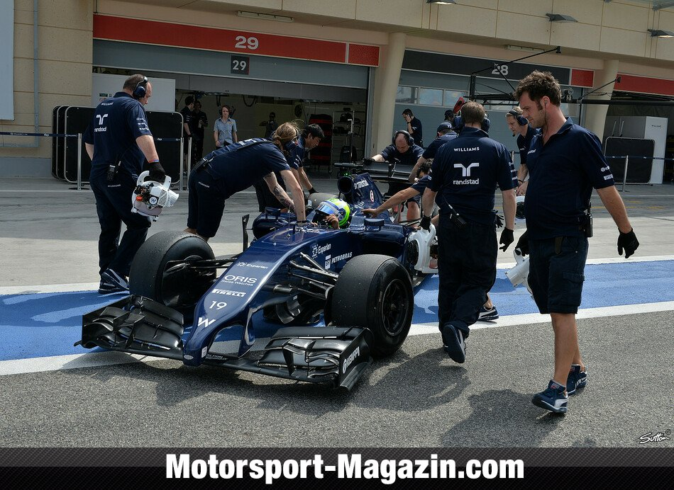 Formel 1 2014, Testfahrten, Bahrain II, Sakhir, Felipe Massa, Williams, Bild: Sutton