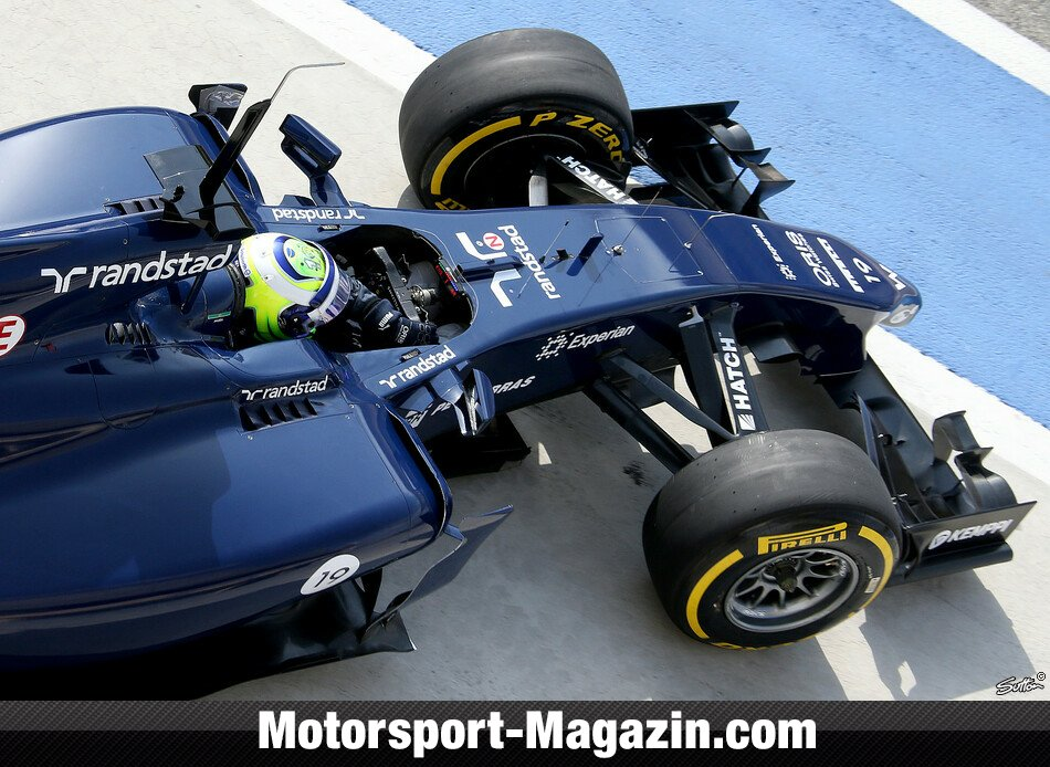 Formel 1 2014, Testfahrten, Felipe Massa, Williams, Bild: Sutton