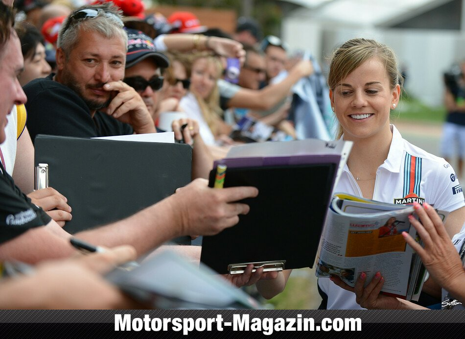 Formel 1 2014, Australien GP, Melbourne, Susie Wolff, Williams, Bild: Sutton