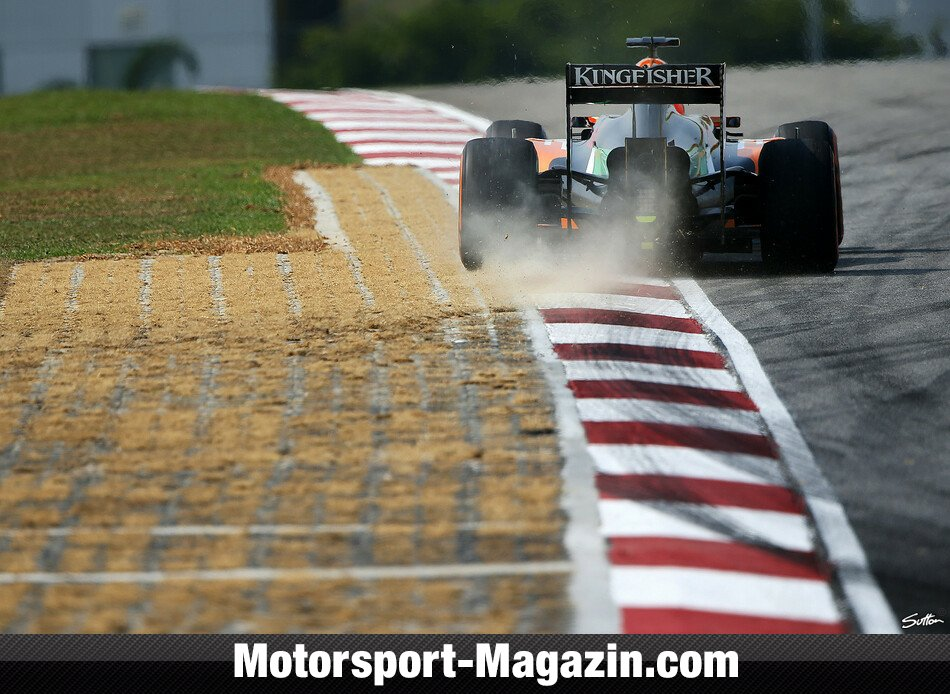 Formel 1 2014, Malaysia GP, Sepang, Nico H�lkenberg, Force India, Bild: Sutton