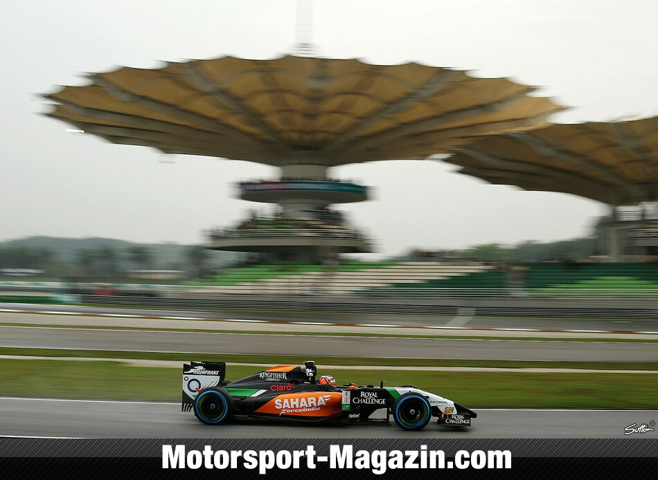 Formel 1 2014, Malaysia GP, Sepang, Nico Hülkenberg, Force India, Bild: Sutton