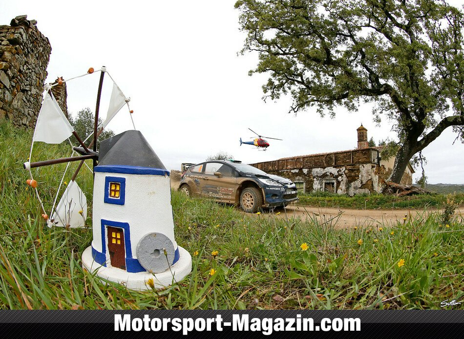WRC 2014, Rallye Portugal, Matosinhos, Elfyn Evans, Qatar M-Sport World Rally Team , Bild: Sutton