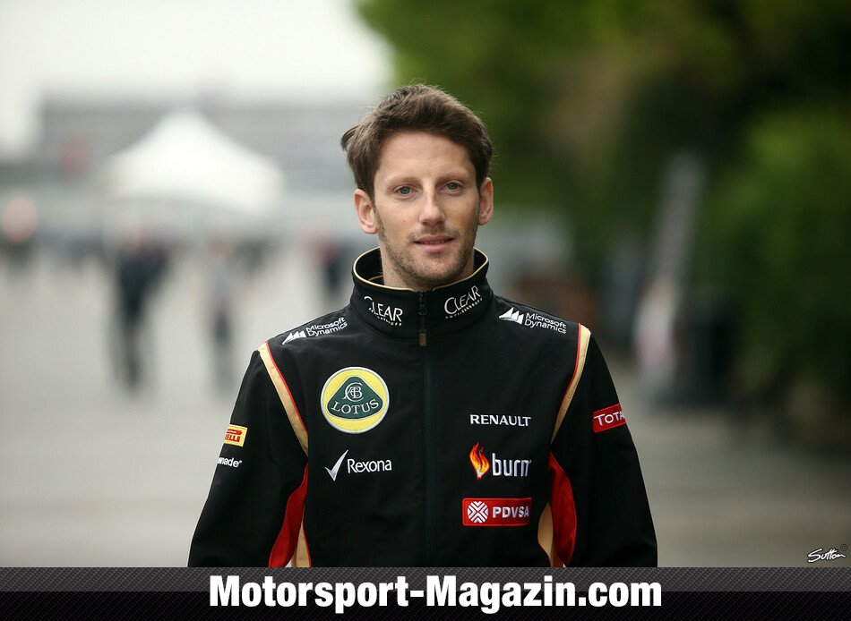 Formel 1 2014, China GP, Shanghai, Romain Grosjean, Lotus, Bild: Sutton