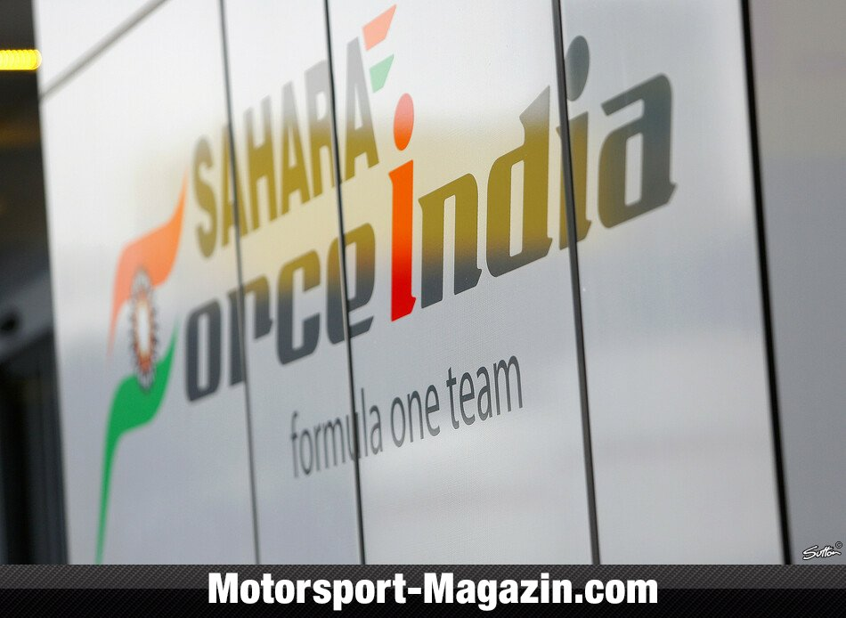 Formel 1 2014, Testfahrten, Barcelona, Barcelona, Force India, Bild: Sutton