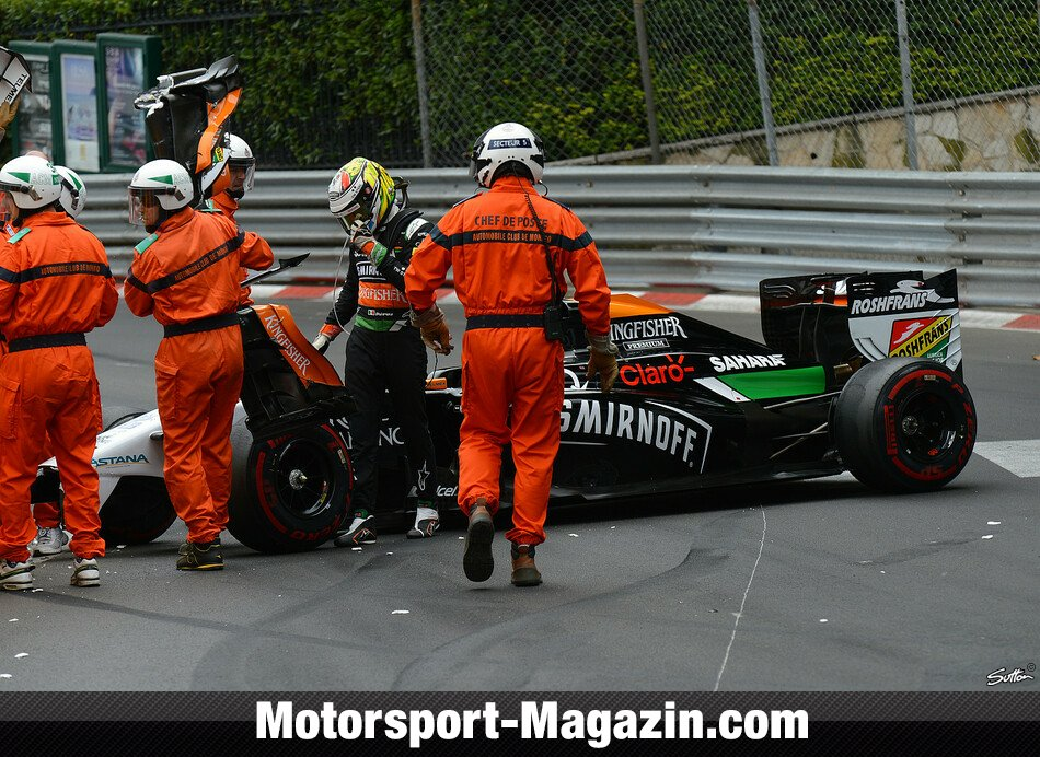 Formel 1 2014, Monaco GP, Monaco, Sergio Pérez, Force India, Bild: Sutton