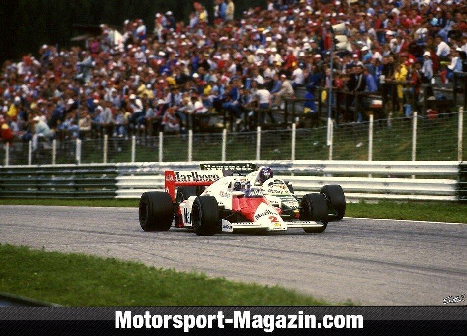 Formel 1 1985, Österreich GP, Österreichring, McLaren, Bild: Sutton