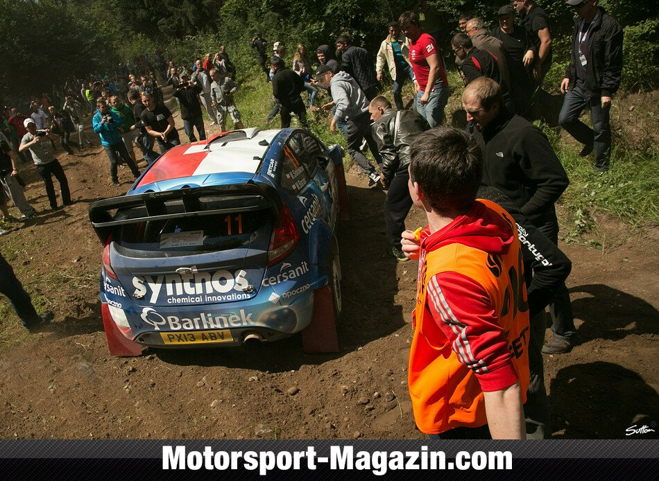 WRC 2014, Rallye Polen, Mikolajki, Qatar M-Sport World Rally Team , Bild: Sutton