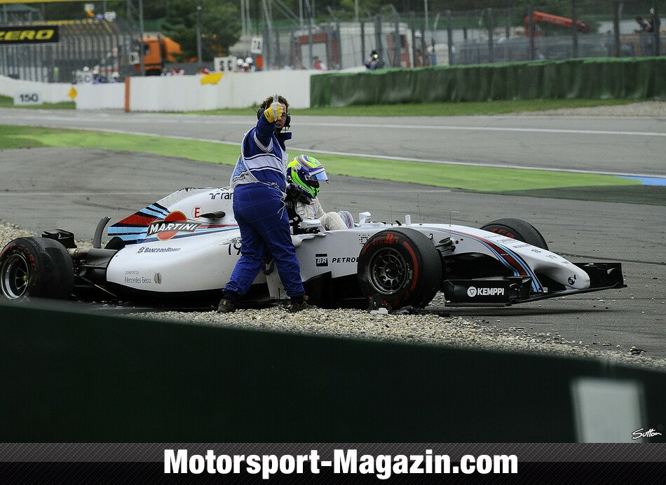 Formel 1 2014, Deutschland GP, Hockenheim, Felipe Massa, Williams, Bild: Sutton