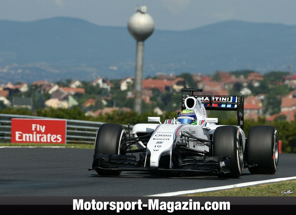 Formel 1 2014, Ungarn GP, Budapest, Felipe Massa, Williams, Bild: Sutton