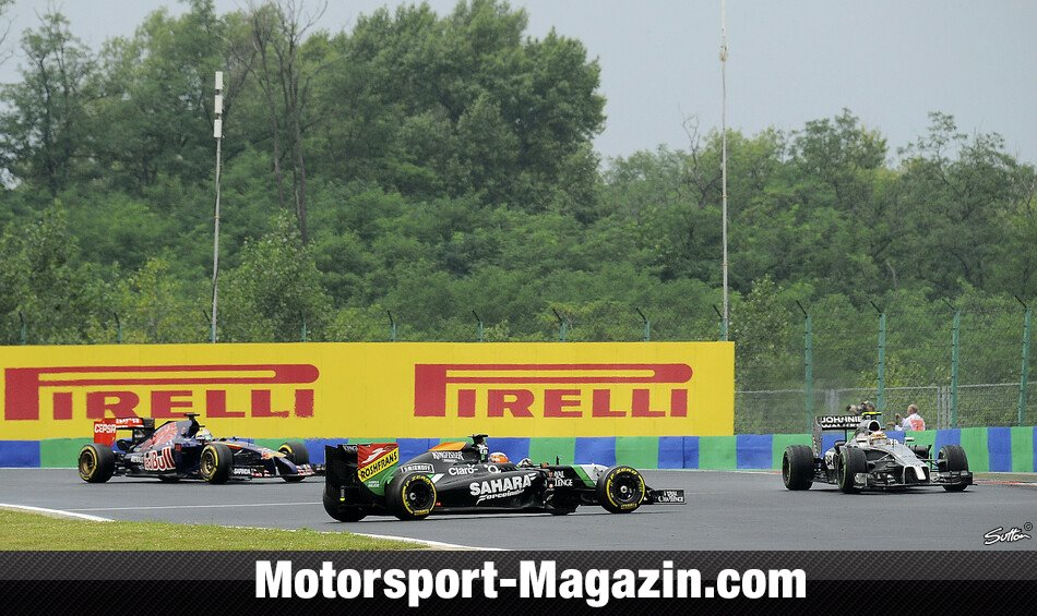 Formel 1 2014, Ungarn GP, Budapest, Nico H�lkenberg, Force India, Bild: Sutton