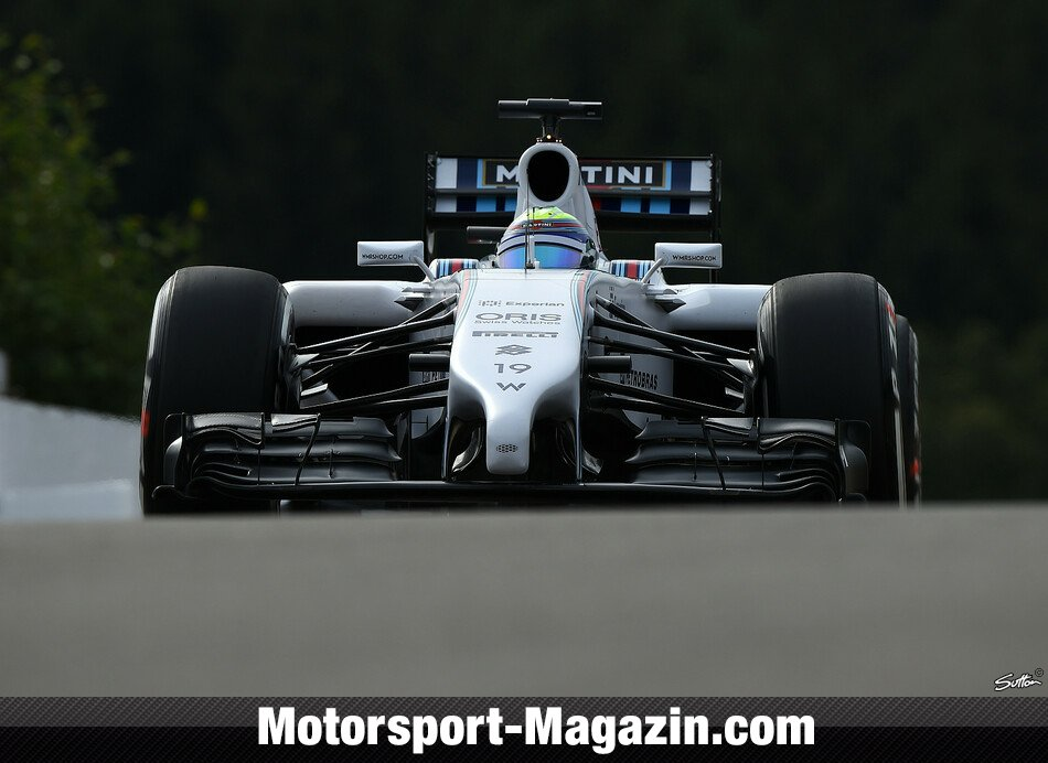 Formel 1 2014, Belgien GP, Spa-Francorchamps, Felipe Massa, Williams, Bild: Sutton