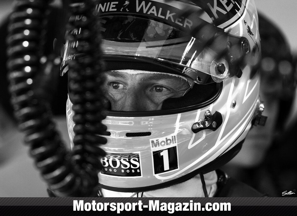 Formel 1 2014, Belgien GP, Spa-Francorchamps, Jenson Button, McLaren, Bild: Sutton