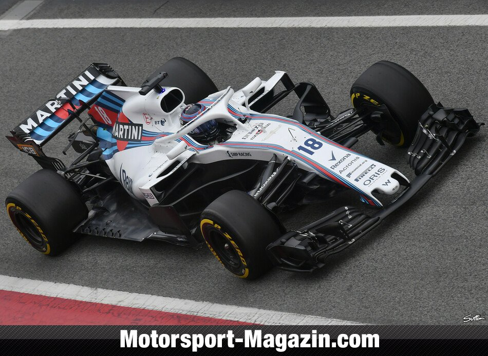 williams f1 testing 2018. Black Bedroom Furniture Sets. Home Design Ideas
