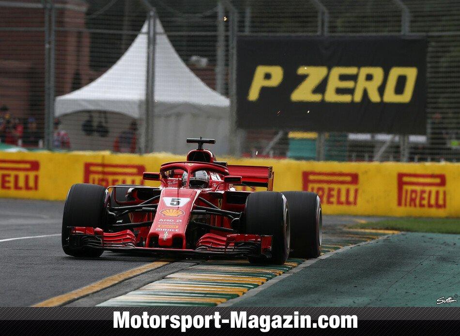 Formel 1 2018 Vettel Mit Fehler Hinter Hamilton Und Räikkönen