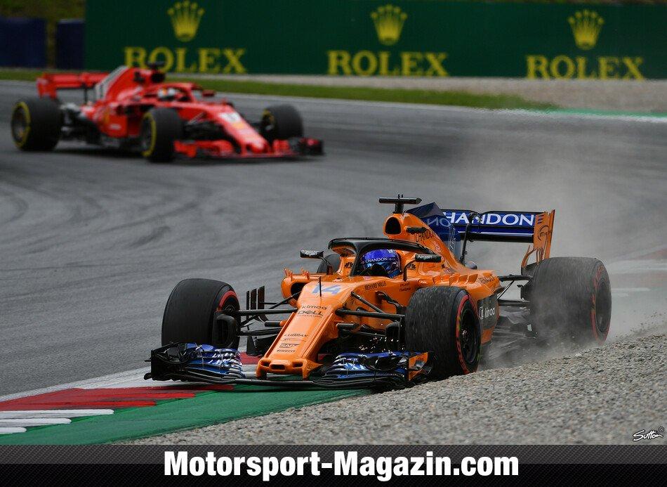 Formel 1 2018, Österreich GP, Spielberg, Fernando Alonso, McLaren, Bild: Sutton