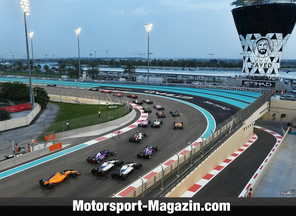 formel 1 abu dhabi start